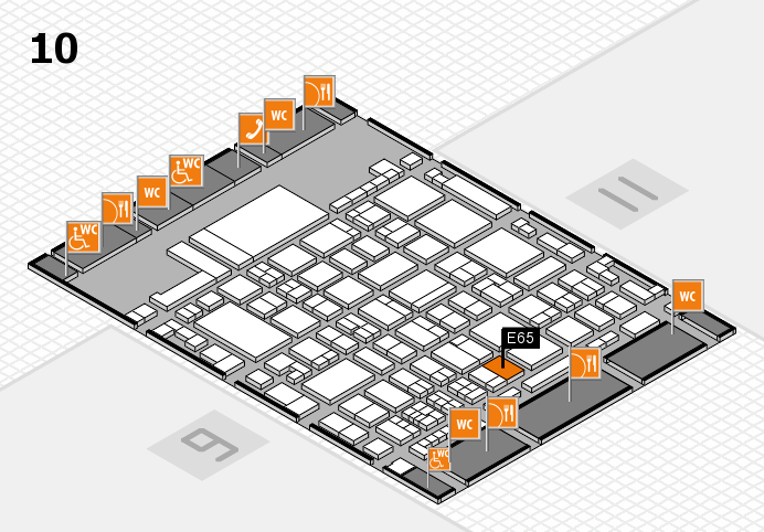 glasstec 2016 hall map (Hall 10): stand E65