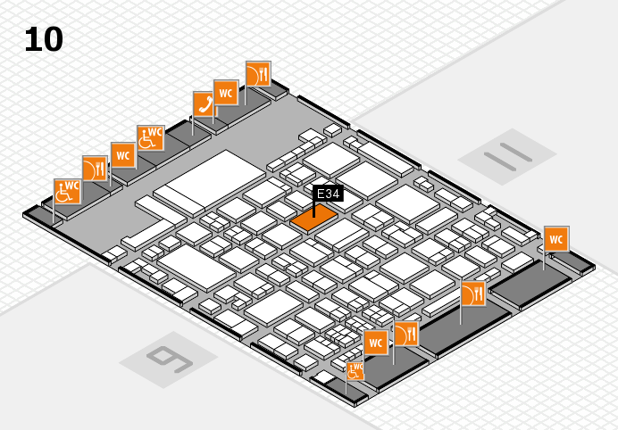 glasstec 2016 hall map (Hall 10): stand E34