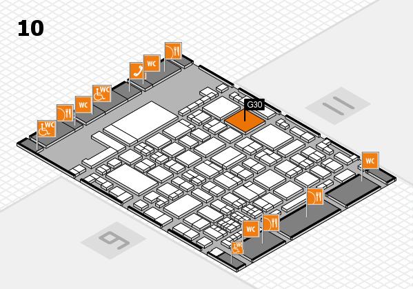 glasstec 2016 Hallenplan (Halle 10): Stand G30