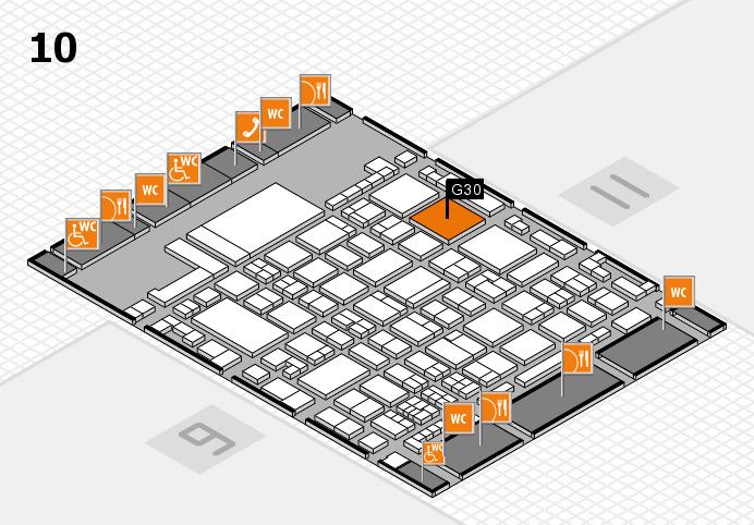 glasstec 2016 hall map (Hall 10): stand G30
