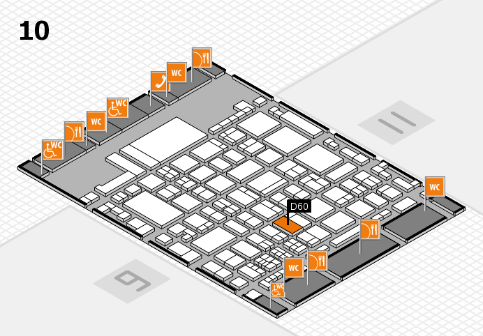 glasstec 2016 hall map (Hall 10): stand D60
