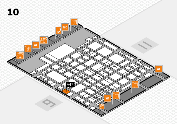 glasstec 2016 hall map (Hall 10): stand A47