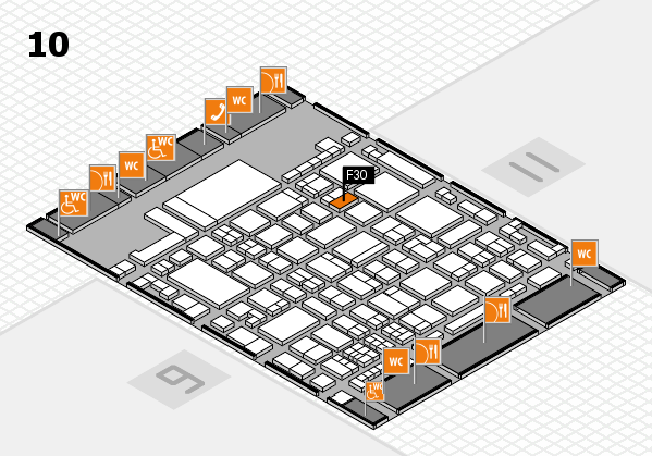 glasstec 2016 hall map (Hall 10): stand F30
