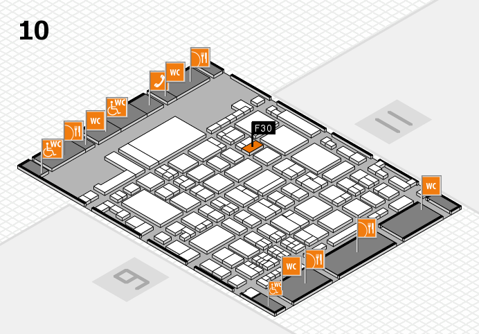 glasstec 2016 hall map (Hall 10): stand F30