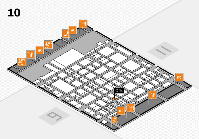 glasstec 2016 hall map (Hall 10): stand C64
