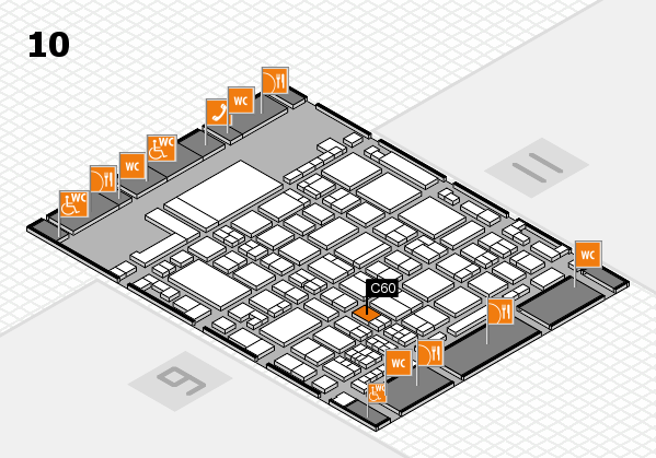 glasstec 2016 hall map (Hall 10): stand C60