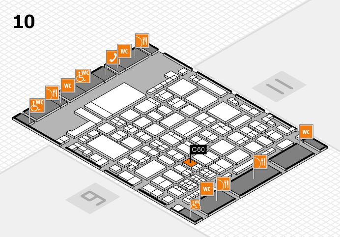 glasstec 2016 hall map (Hall 10): stand C60