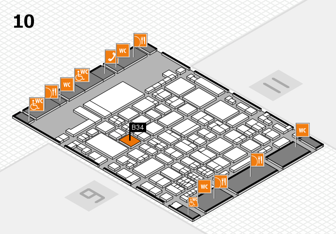glasstec 2016 hall map (Hall 10): stand B34