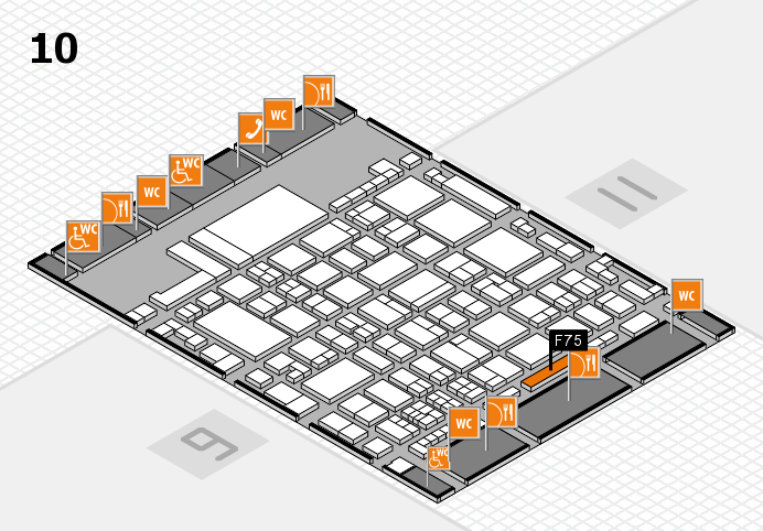 glasstec 2016 hall map (Hall 10): stand F75