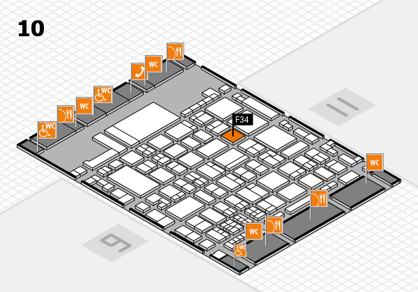 glasstec 2016 hall map (Hall 10): stand F34