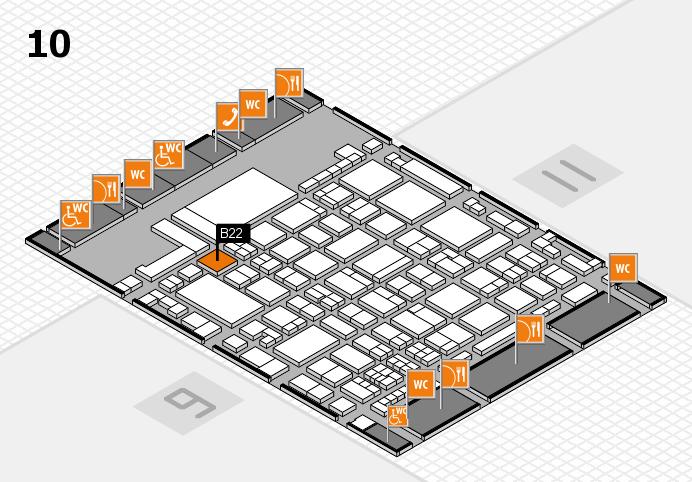 glasstec 2016 hall map (Hall 10): stand B22