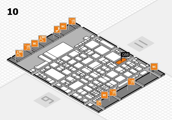 glasstec 2016 hall map (Hall 10): stand G56