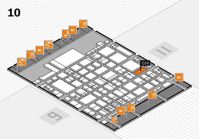 glasstec 2016 Hallenplan (Halle 10): Stand G56