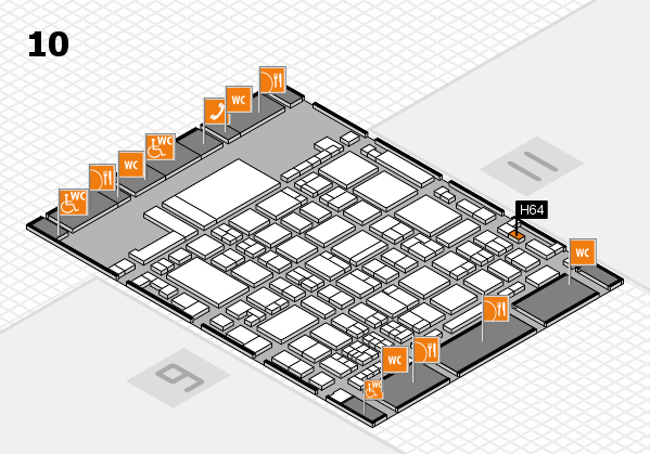 glasstec 2016 hall map (Hall 10): stand H64