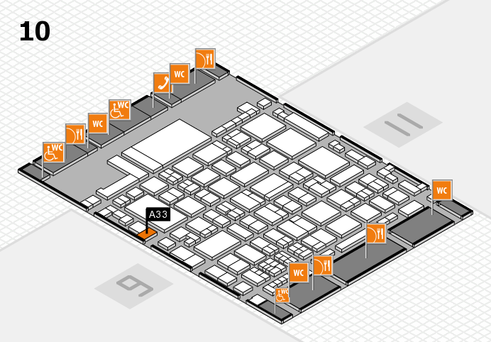 glasstec 2016 hall map (Hall 10): stand A33