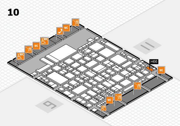 glasstec 2016 hall map (Hall 10): stand H66