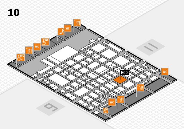 glasstec 2016 hall map (Hall 10): stand E60