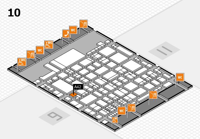 glasstec 2016 hall map (Hall 10): stand A42