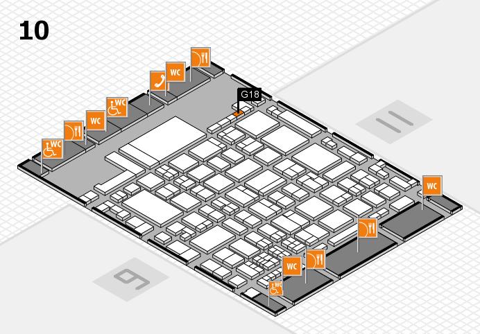 glasstec 2016 hall map (Hall 10): stand G18