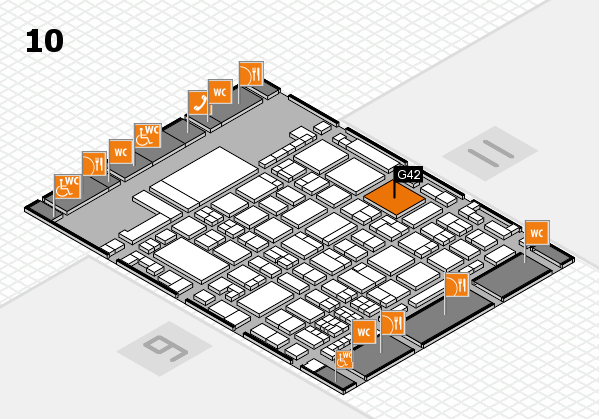 glasstec 2016 hall map (Hall 10): stand G42