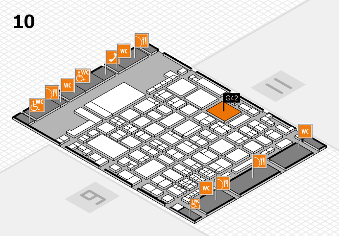 glasstec 2016 Hallenplan (Halle 10): Stand G42