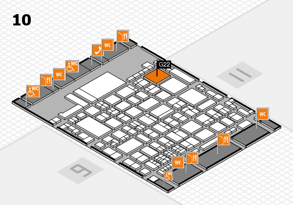 glasstec 2016 hall map (Hall 10): stand G22