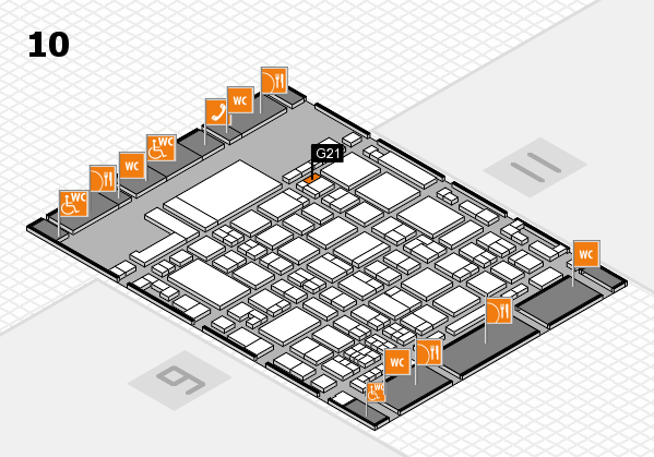 glasstec 2016 hall map (Hall 10): stand G21
