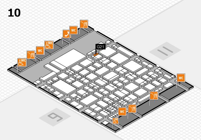 glasstec 2016 Hallenplan (Halle 10): Stand G21