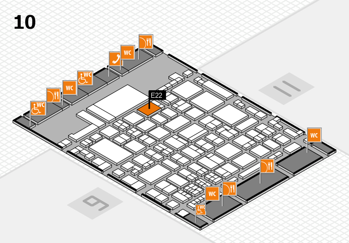 glasstec 2016 hall map (Hall 10): stand E22