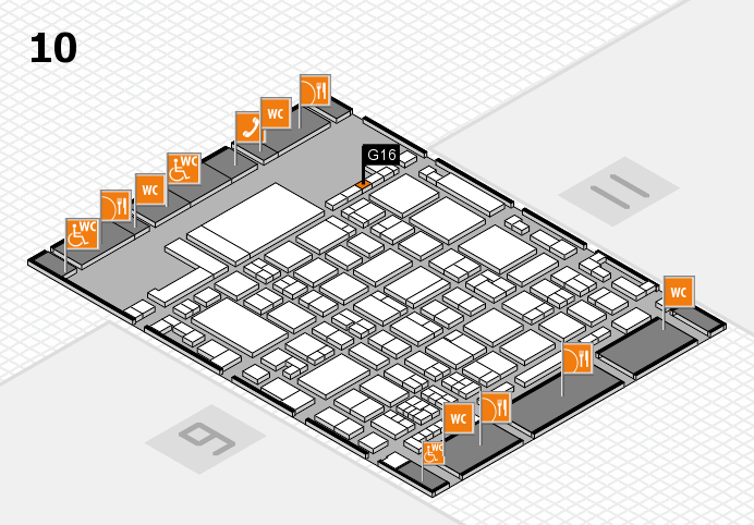 glasstec 2016 hall map (Hall 10): stand G16