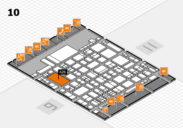 glasstec 2016 hall map (Hall 10): stand A28