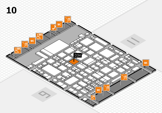 glasstec 2016 hall map (Hall 10): stand D34