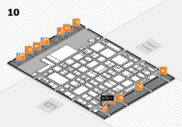 glasstec 2016 hall map (Hall 10): stand A76-1