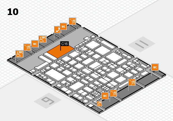glasstec 2016 hall map (Hall 10): stand C16
