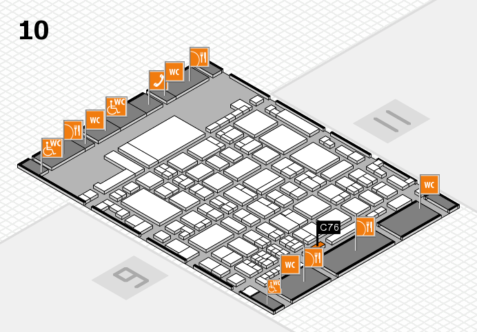 glasstec 2016 hall map (Hall 10): stand C76