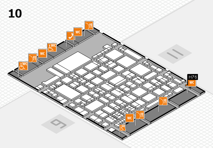 glasstec 2016 Hallenplan (Halle 10): Stand H76