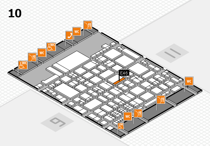 glasstec 2016 hall map (Hall 10): stand E46