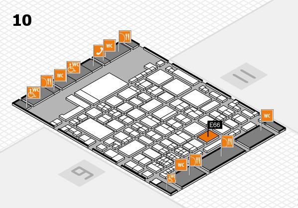 glasstec 2016 Hallenplan (Halle 10): Stand E66