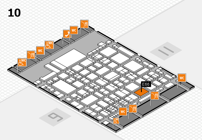 glasstec 2016 hall map (Hall 10): stand E66