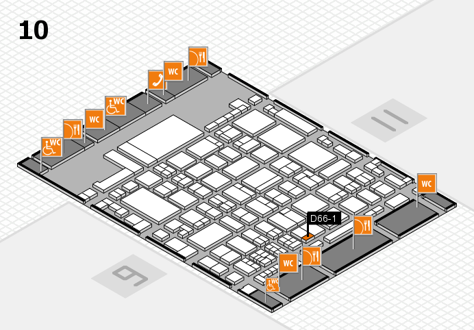 glasstec 2016 hall map (Hall 10): stand D66-1