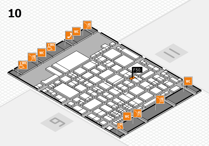 glasstec 2016 hall map (Hall 10): stand F50