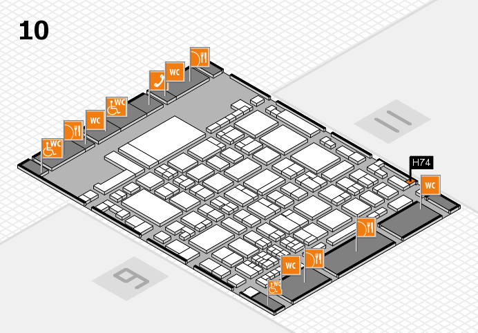 glasstec 2016 hall map (Hall 10): stand H74