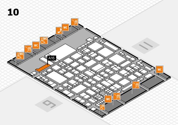 glasstec 2016 hall map (Hall 10): stand A16