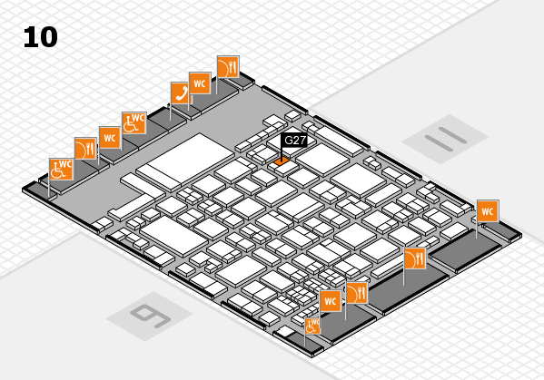 glasstec 2016 hall map (Hall 10): stand G27