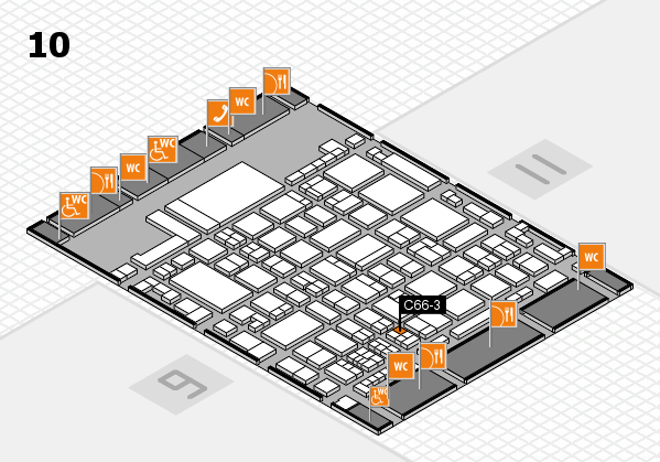 glasstec 2016 hall map (Hall 10): stand C66-3