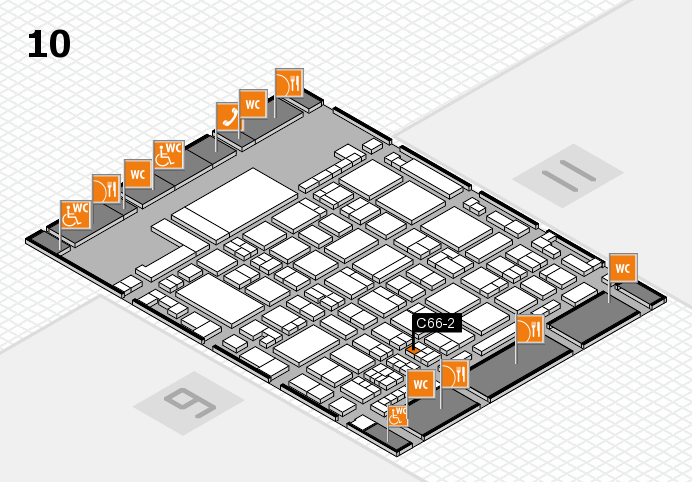 glasstec 2016 hall map (Hall 10): stand C66-2