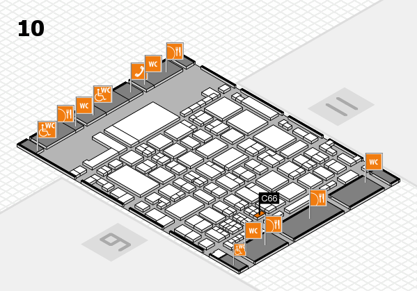 glasstec 2016 hall map (Hall 10): stand C66