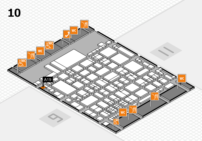 glasstec 2016 hall map (Hall 10): stand A19