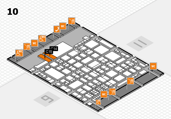 glasstec 2016 hall map (Hall 10): stand C14, stand C15