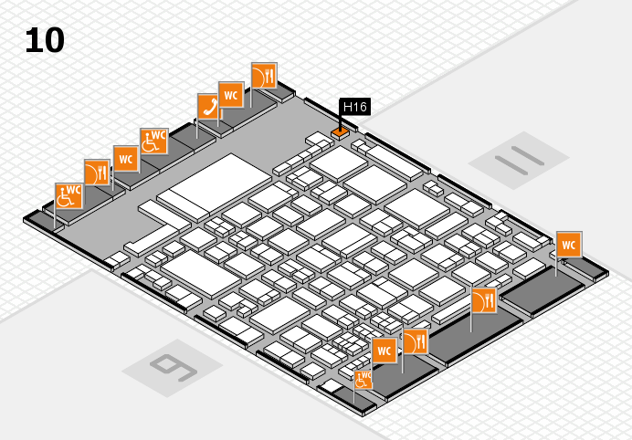 glasstec 2016 hall map (Hall 10): stand H16